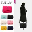 The accent points in the code! 2WAY Pochette Bag ladies bag Pochette shoulder studded 2WAY DarkAngel / Dark Angel