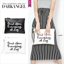 It is easy to stand with just right size! Handwriting logo clutch bag / Lady's clutch bag logo 2WAY leather mode DarkAngel/ dark angel