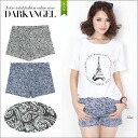 Exotic atmosphere ♪ paisley short pants / Lady's short pants paisley ethnic blue-black DarkAngel/ dark angel