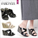 It is make ♪ wedge sole sandals / Lady's sandals wedge sole thickness bottom mule DarkAngel/ dark angel in the summer step