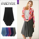 It is adult coordinates ♪ drape middle skirt / Lady's skirt drape middle length flared skirt knee length knee-length DarkAngel/ dark angel in the spring and summer in beautiful drape