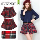 Universal design likely ♪ flannel shirt wind shorts and women's flannel shirt check pattern shorts shirts fall winter DarkAngel / Dark Angel