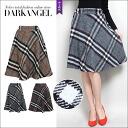 British chic check! check pattern MIME-length skirt / ladies MIME-knee-length knee length flare skirt winter DarkAngel / Dark Angel