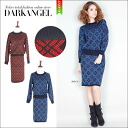 Mode pattern design ♪ General NET Setup and ladies knit Setup skirt check pattern short sleeve long sleeve slit pattern DarkAngel / Dark Angel