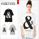 Wear mens like ♪ & RESTful mark logo T shirt / ladies T shirt short sleeve short sleeve logo mens like loose spring summer DarkAngel / Dark Angel