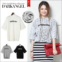 Plenty of design impact ♪ General x logo short sleeve shirt / ladies short sleeve General logo sewn tops DarkAngel / Dark Angel