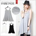 Full body cover ♪ loose loose A line tops and women's tops sewn sleeveless loose body cover spring summer DarkAngel / Dark Angel