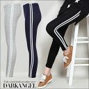 Side two line ♪ sporty legions and ladies line leggings spats with sporty enough-10/10ths DarkAngel / Dark Angel.