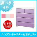 Trundle chest ベビーチェスト 75 cm width 4 ( trundle chest ) mirror finish trundle storage colorful furniture colorful children's dresser drawer chests closet storage