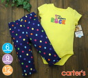 Carters carter's Bodysuit & pants guitar ROCK, yellow & colorful dots Navy Blue pants