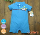 Carter's Carter's polo shirt style rompers 28Local Cute, blue