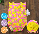 Carter's Carter's body suit buttocks frill & corsage pink X yellow / rompers