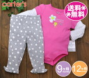 Carters carter's 2-point set Bodysuit & pants flower frog, pink × white × grade t