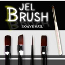 Gel nail brushes (white) brush 4 tip for nail brush French flat liner oval
