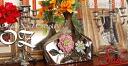 Oz アンティークテイスト デコラティブフラワーコン port figurine vase vase artificial flower sundry silver