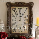 Rectangle Frame レクタングルフレーム wall wall clock clock antique miscellaneous goods シャビーウォッチ needle gray