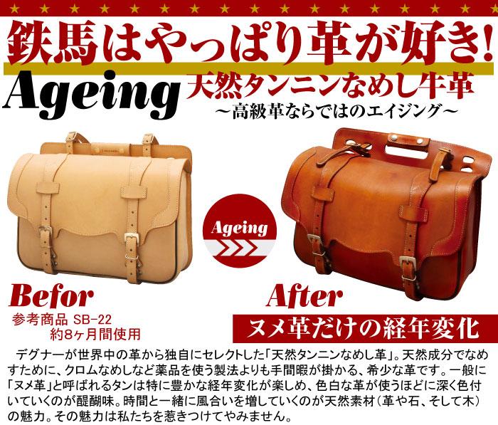 革の経年変化まで楽しめる快適サドルバッグ