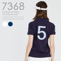 オルテガ柄 NO.5 ポロシャツ