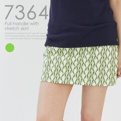 ストレッチ入総柄スカート