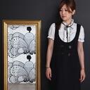 de mieux select ★ new ★ フリルベロアリボンパフ sleeve blouse classic ★ o