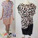 ★ sale ★ floral print asymmetric drape dress ★