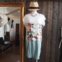 ★ spring summer new ★ ★ floral ♪ Dolman Sleeve 3 switch one piece ★ Mint series