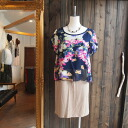 ★ watercolor floral print layer won piece ★ Navy systems