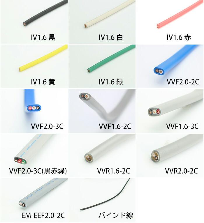 電気工事士技能試験対応セットの電線