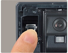 写真:角度調節レバーを前面に内蔵