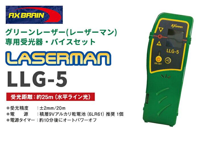 アックスブレーン製グリーンレーザー墨出し器 レーザーマン用受光器・バイスセット LLG-5