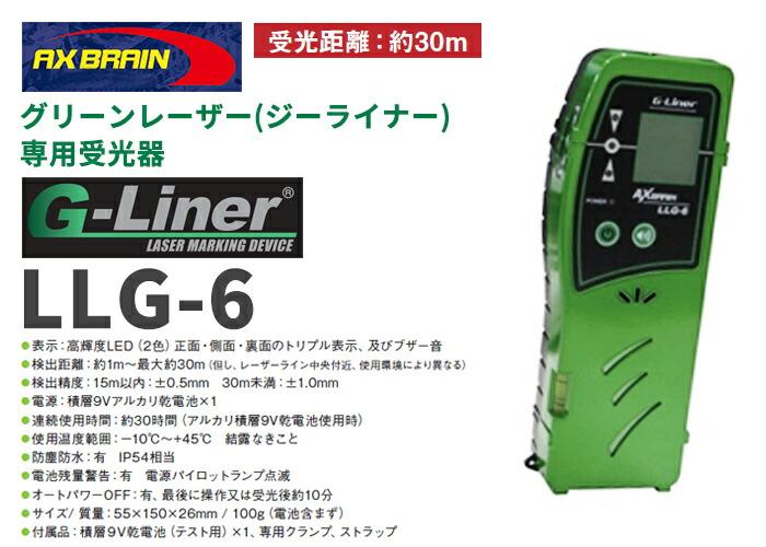 アックスブレーン製グリーンレーザー墨出し器 ジーライナー用受光器 LLG-6