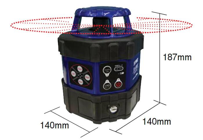 アックスブレーン 新機能満載の水平回転レーザーレベル PL-600H