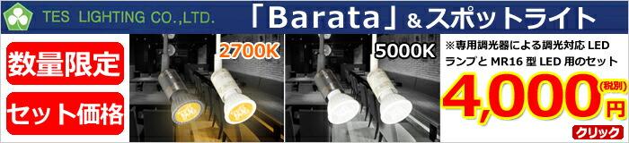 テスライティング_barata+MR16型用スポットライト