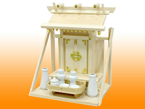 Set example of one shrine, God tool set (mini) with the shelf board, 5 long distance three treasures 寸