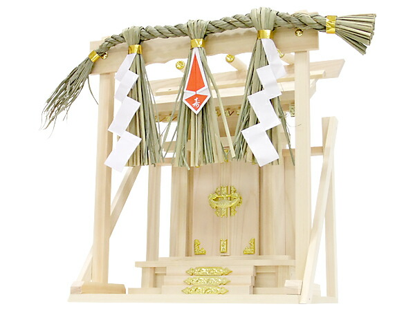 Set example of one shrine, curtain board small, 1 Shinto straw festoon shaku with the shelf board