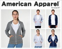American Apparel American Apparel Unisex Salt and Pepper Zip Hoodie unisex ソルトアンドペッパージップフッディ ladies mens support solid parka ladies STYLE: MT497