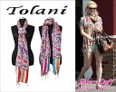 TOLANI 트라니 ALL OVER EMB SCARF MORNING GLORY