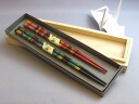 Wakasa lacquered chopsticks hole Sparrow decontamination (lacquer and Meoto) paper boxed gift / pair / wedding celebration / [fun gift _ 02P11Apr15