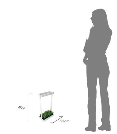 デザイン照明のDI CLASSE I-umbrella ディクラッセ アイアンブレラ 傘立て 商品のサイズ