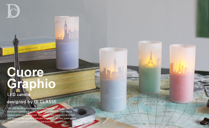Cuore Graphio LED candle