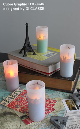 デザイン照明器具のDI CLASSE(ディクラッセ) クオーレグラフィオ LEDキャンドル