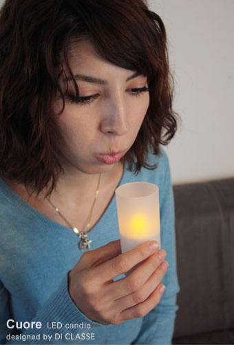Cuore LED candle