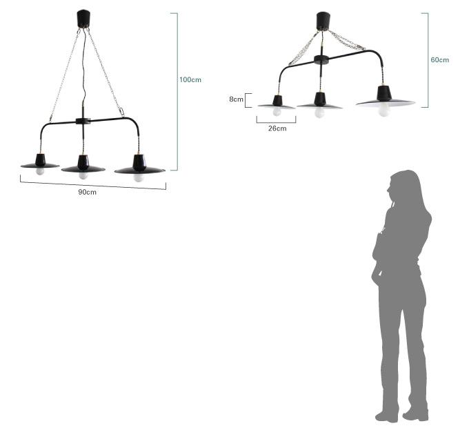 バチーノ フラット3 ペンダントランプ 比較画像
