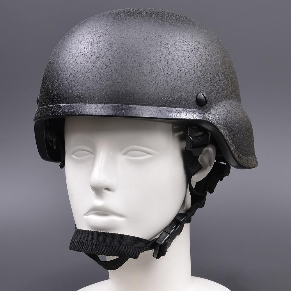 タクティカルヘルメット 耳当て付 梨地 フリーサイズ