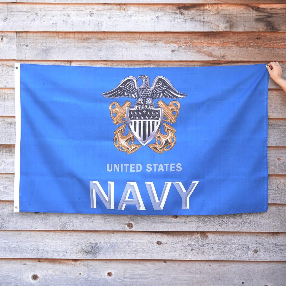 Rothco フラッグ U.S. ネイビー 91cm×152cm ブルー