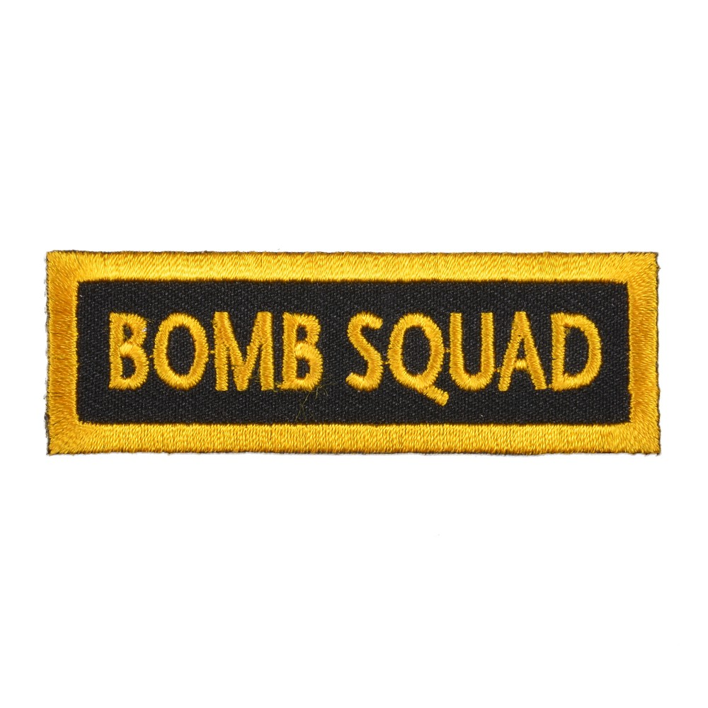 ミリタリーパッチ BOMB SQUAD アイロンシート付