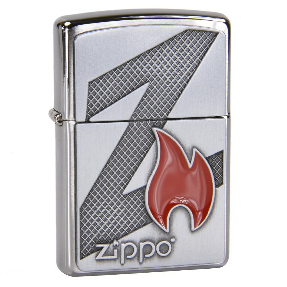 ZIPPO フレイム&ロゴ #29104 ブラッシュドクローム