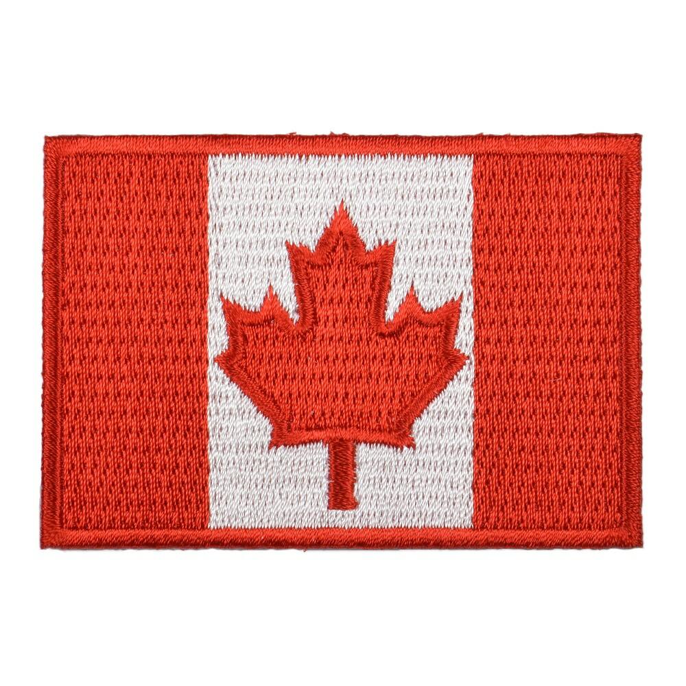 ミリタリーパッチ カナダ国旗 アイロンシート付