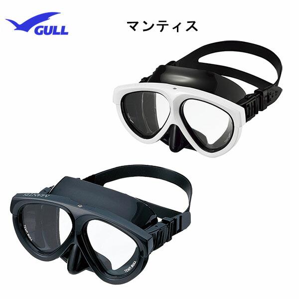 GULL(ガル)ダイビングマスクマンティスブラックシリコンGM-1031