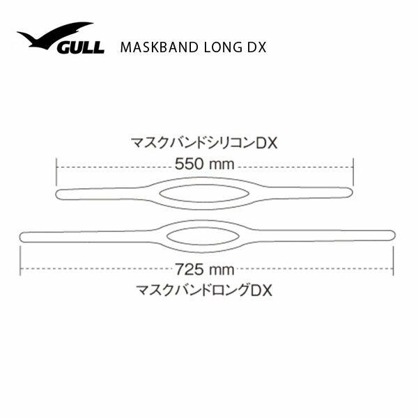 GULL(ガル)マスクバンドロングDX&マンティスBKシリコン(セイフオレンジ)セットGM-1033サイズ表